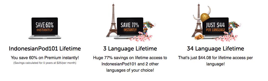 IndonesianPod101 Lifetime Account Promotion