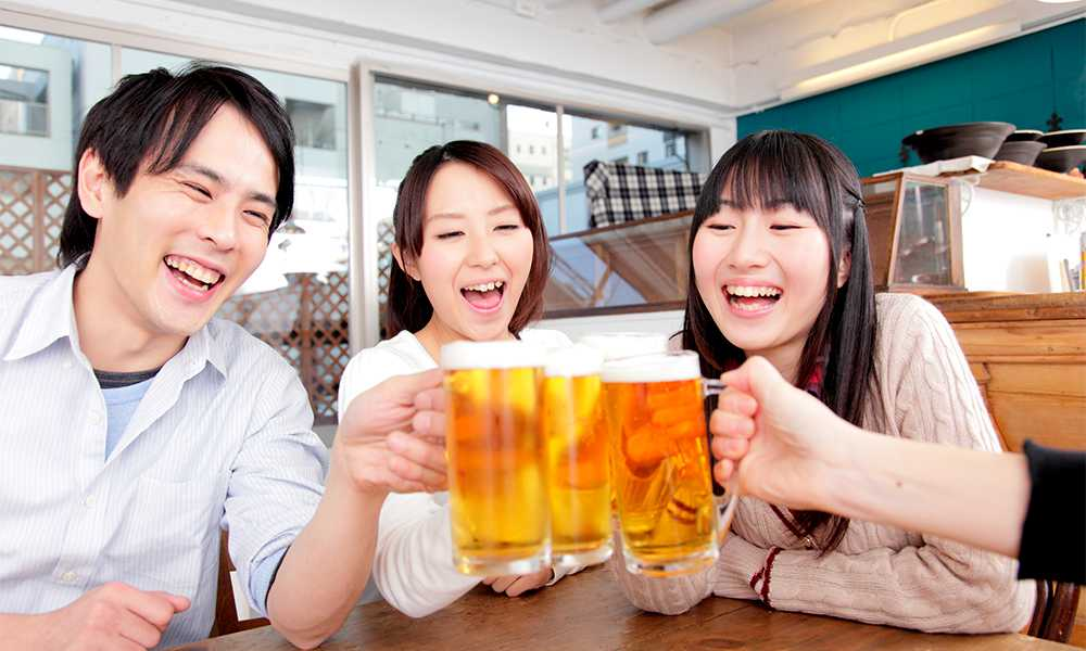 Japanese people are generally easier to talk to after a couple of beers!