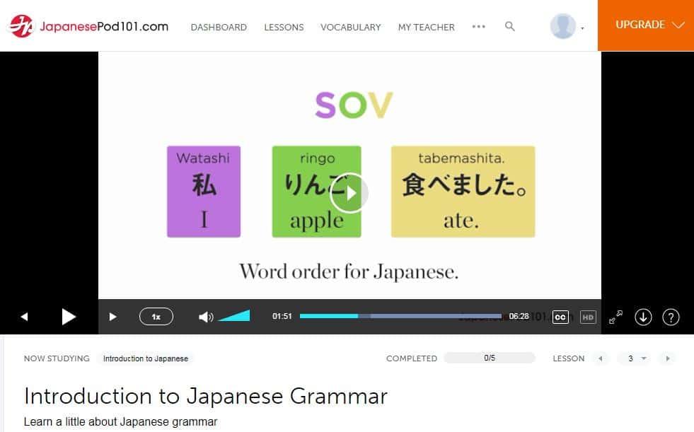 JapanesePod101-review-video-lesson-grammar