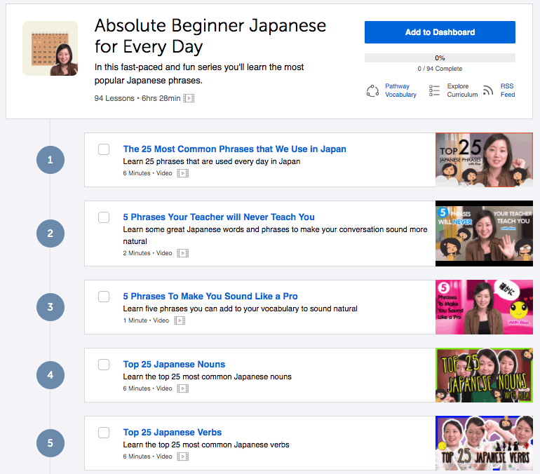 JapanesePod101 Review - Lesson Materials Example (Beginner)