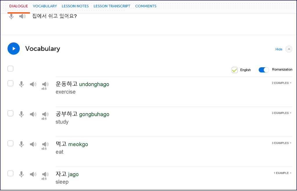 KoreanClass101-Review-vocabulary-lesson