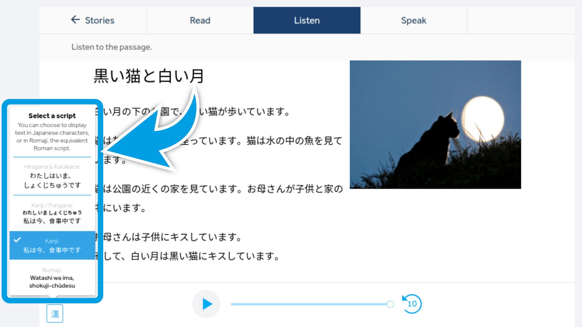 Rosetta-Stone-Japanese-Review-Change-Script
