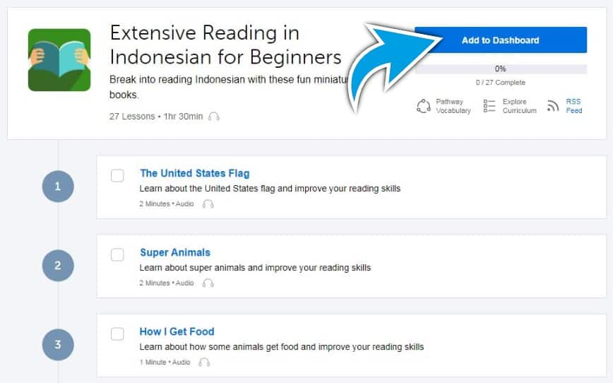 IndonesianPod101-Review-Example-Pathway-Add-To-Dashboard