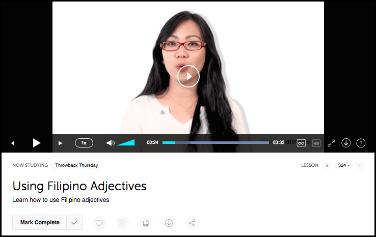 FilipinoPod101 Video Lesson Example