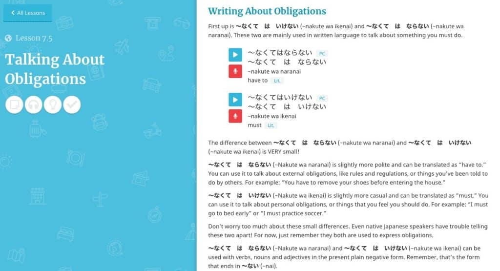 Rocket-Japanese-Review-Talking-About-Obligations-Lesson