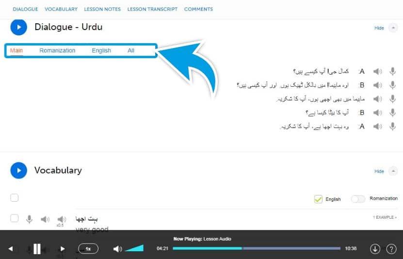 UrduPod101-Review-Example-Lesson-Dialogue-Script