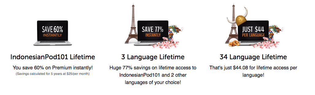 IndonesianPod101 Lifetime Account Promotion
