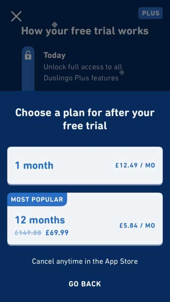 Duolingo-Chinese-Review-Choose-A-Plan