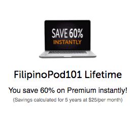 FilipinoPod101 Coupon 60